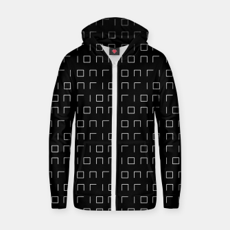 Miniature de image de Minimalistic Geometric Pattern Cotton zip up hoodie, Live Heroes