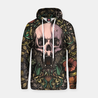 Thumbnail image of Skull in the jungle Cotton hoodie, Live Heroes