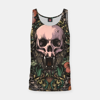Miniatur Skull in the jungle Tank Top, Live Heroes