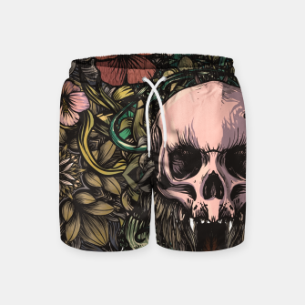 Miniaturka Skull in the jungle Swim Shorts, Live Heroes