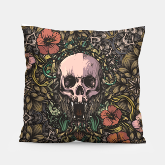 Thumbnail image of Skull in the jungle Pillow, Live Heroes