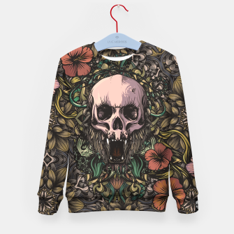 Thumbnail image of Skull in the jungle Kid's sweater, Live Heroes