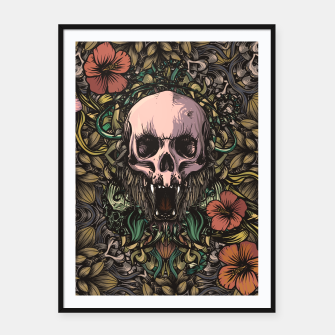 Thumbnail image of Skull in the jungle Framed poster, Live Heroes
