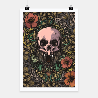 Thumbnail image of Skull in the jungle Poster, Live Heroes