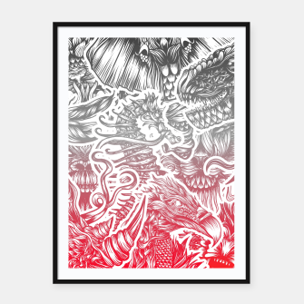 Thumbnail image of Animals Color Framed poster, Live Heroes