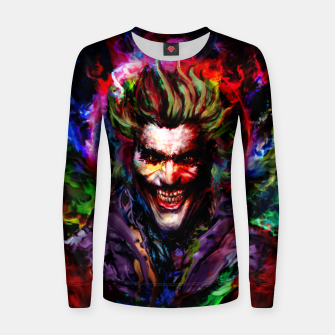 Thumbnail image of joker Woman cotton sweater, Live Heroes