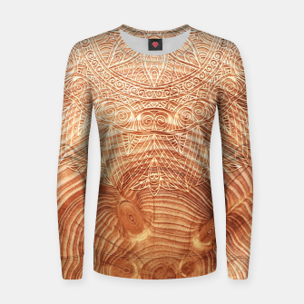 Thumbnail image of Mandala Wood I Woman cotton sweater, Live Heroes