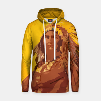 Thumbnail image of  Native American indian Cotton hoodie, Live Heroes