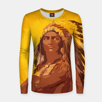 Thumbnail image of  Native American indian Woman cotton sweater, Live Heroes
