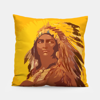 Thumbnail image of  Native American indian Pillow, Live Heroes