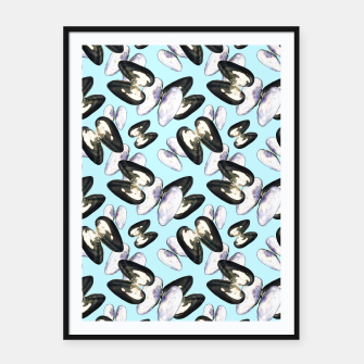 Thumbnail image of Unio Crassus Pattern in Light Blue Framed poster, Live Heroes