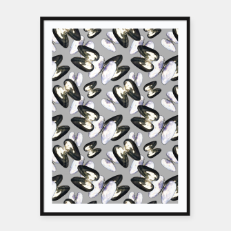 Thumbnail image of Unio Crassus Pattern in Grey Framed poster, Live Heroes