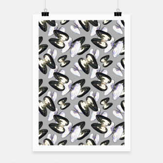 Thumbnail image of Unio Crassus Pattern in Grey Poster, Live Heroes