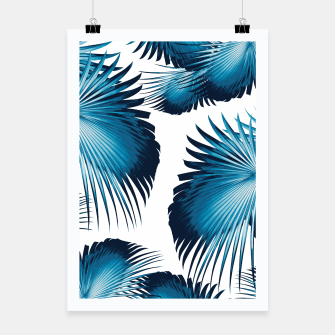 Thumbnail image of Fan Palm Leaves Paradise #11 #tropical #decor #art  Plakat, Live Heroes