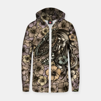Thumbnail image of T-Rex Cotton zip up hoodie, Live Heroes