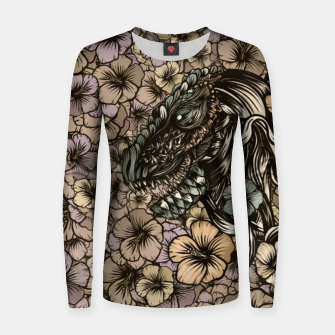 Thumbnail image of T-Rex Woman cotton sweater, Live Heroes