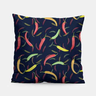 Thumbnail image of Watercolor Chilli Pepper Pillow, Live Heroes