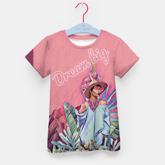 Thumbnail image of Dream big Kid's t-shirt, Live Heroes