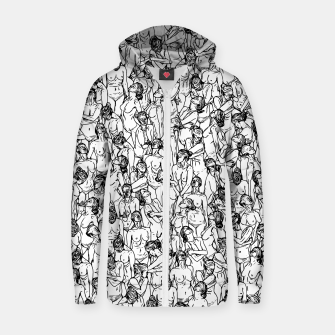 Thumbnail image of Unveiled Cotton zip up hoodie, Live Heroes