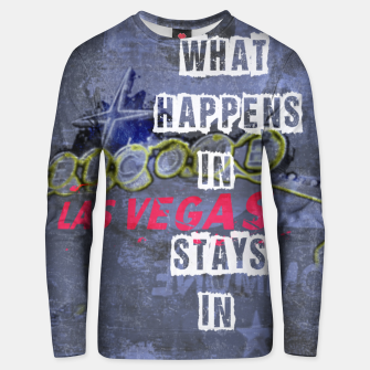 Miniatur Quote - What happens in Vegas Cotton sweater, Live Heroes