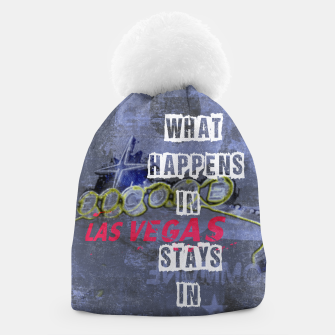 Thumbnail image of Quote - What happens in Vegas Beanie, Live Heroes