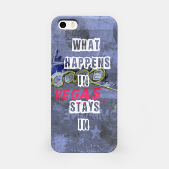 Miniatur Quote - What happens in Vegas iPhone Case, Live Heroes