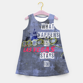 Miniatur Quote - What happens in Vegas Girl's summer dress, Live Heroes