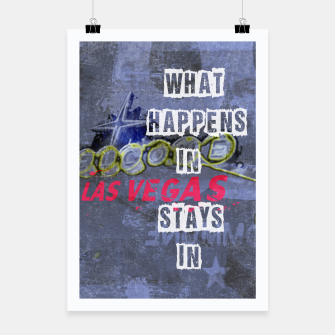 Miniatur Quote - What happens in Vegas Poster, Live Heroes