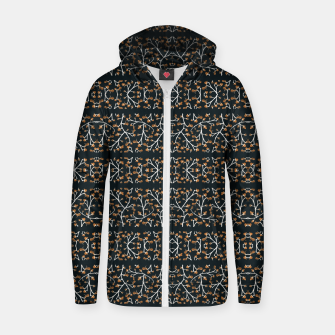 Thumbnail image of Floral Lace Stripes Print Pattern Cotton zip up hoodie, Live Heroes