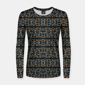 Thumbnail image of Floral Lace Stripes Print Pattern Woman cotton sweater, Live Heroes