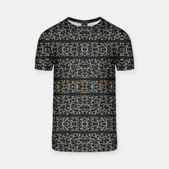 Thumbnail image of Floral Lace Stripes Print Pattern T-shirt, Live Heroes