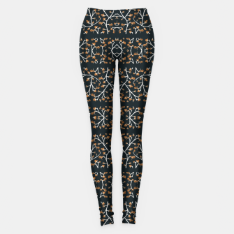 Thumbnail image of Floral Lace Stripes Print Pattern Leggings, Live Heroes