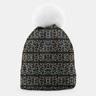 Thumbnail image of Floral Lace Stripes Print Pattern Beanie, Live Heroes