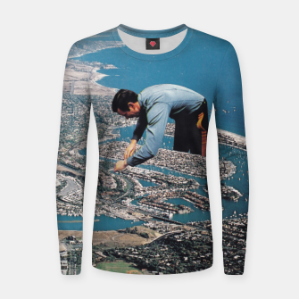 Thumbnail image of Urban Planning Woman cotton sweater, Live Heroes