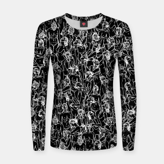 Thumbnail image of Unveiled II Woman cotton sweater, Live Heroes