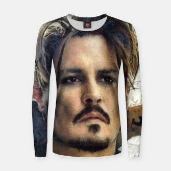 Thumbnail image of Johnny Depp Woman cotton sweater, Live Heroes