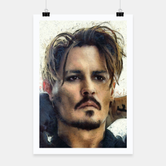 Thumbnail image of Johnny Depp Poster, Live Heroes