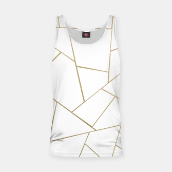 Thumbnail image of Gold White Geometric Glam #1 #geo #decor #art Muskelshirt , Live Heroes