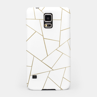 Thumbnail image of Gold White Geometric Glam #1 #geo #decor #art Handyhülle für Samsung, Live Heroes