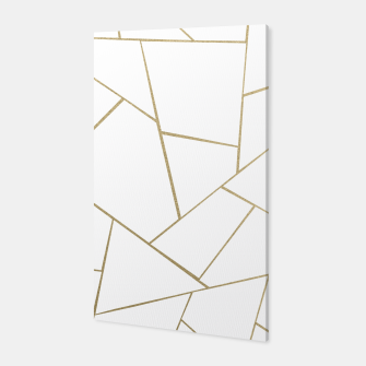 Thumbnail image of Gold White Geometric Glam #1 #geo #decor #art Canvas, Live Heroes