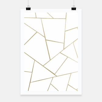 Thumbnail image of Gold White Geometric Glam #1 #geo #decor #art Plakat, Live Heroes