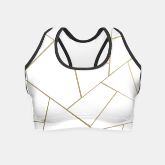 Thumbnail image of Gold White Geometric Glam #1 #geo #decor #art Crop Top, Live Heroes