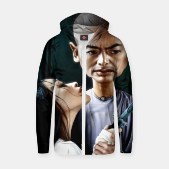 Chow Yun Fat Cotton zip up hoodie thumbnail image