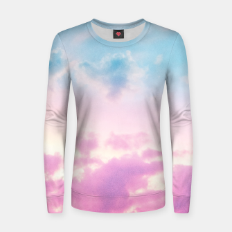 Thumbnail image of Unicorn Pastel Clouds #3 #decor #art  Frauen baumwoll sweatshirt, Live Heroes