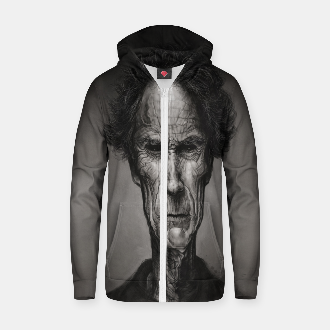 Image of Clint Eastwood Cotton zip up hoodie - Live Heroes