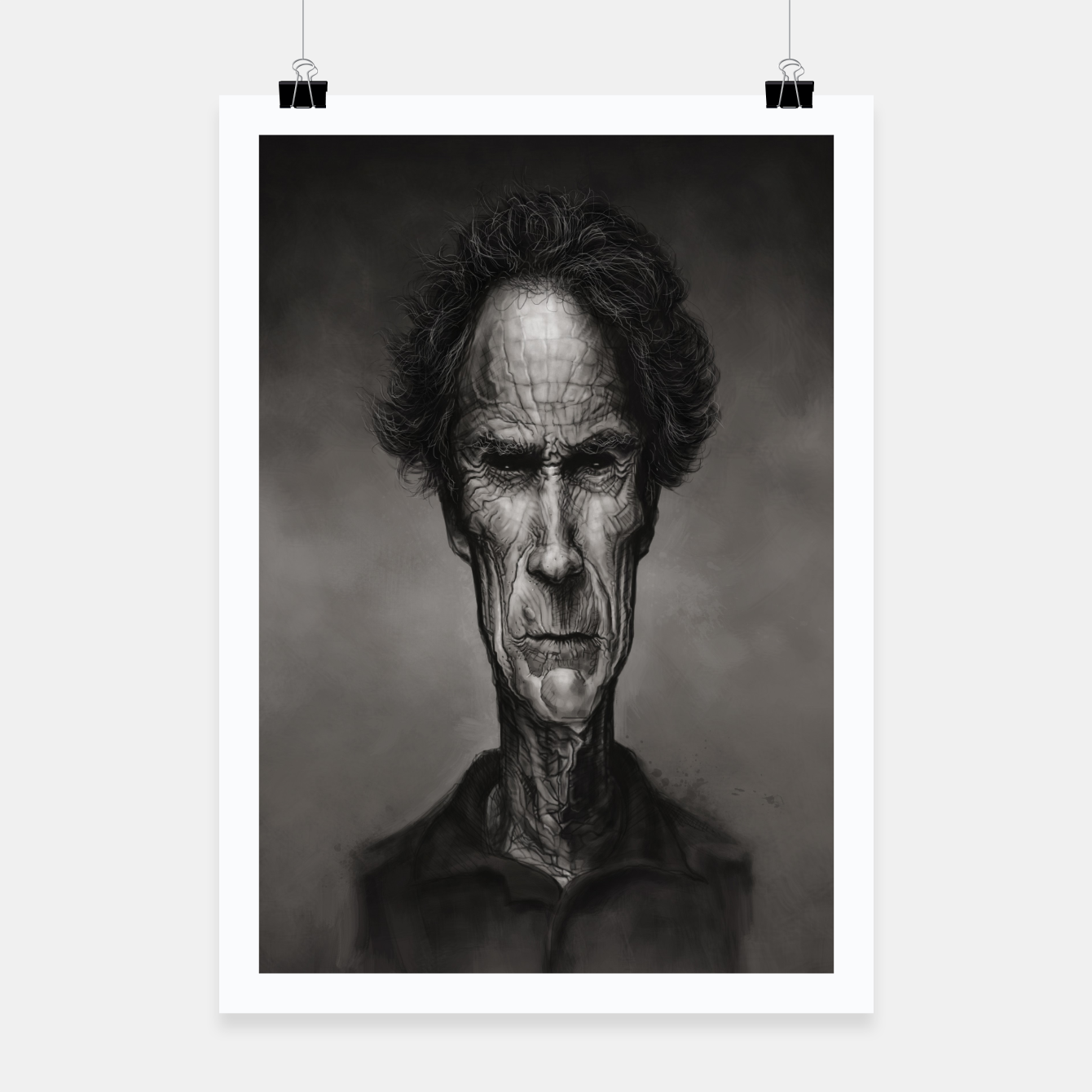 Image of Clint Eastwood Poster - Live Heroes