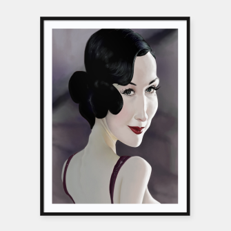 Thumbnail image of Dita von Teese Framed poster, Live Heroes