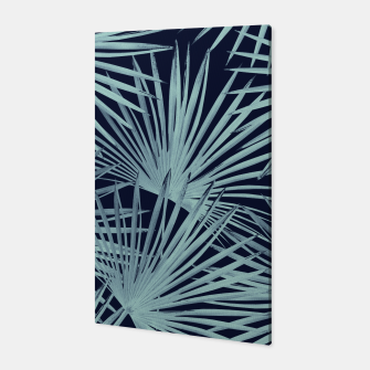 Thumbnail image of Tropical Fan Palm Leaves #6 #tropical #decor #art Canvas, Live Heroes