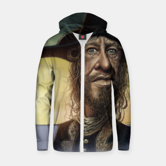 Thumbnail image of Geoffrey Rush Cotton zip up hoodie, Live Heroes