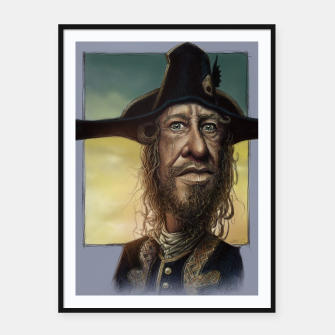 Thumbnail image of Geoffrey Rush Framed poster, Live Heroes